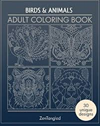 amazon coloring books birds u0026 animals zentangle