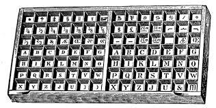 letterpress printing letterpress printing uppercase tray clipart etc