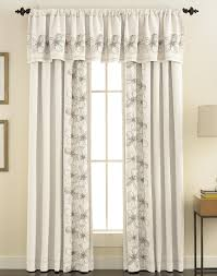 white and teal curtains drapes and window treatments window