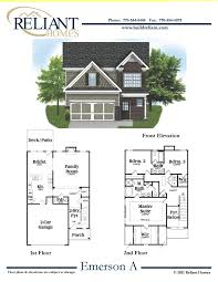 sle floor plans 2 story home reliant homes the emerson a plan floor plans homes homes for