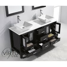 virtu usa md 4305 s es bradford 60 double sink bathroom vanity in