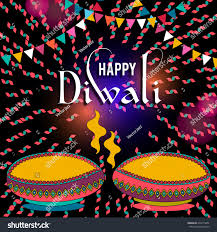Diwali Invitation Cards Happy Diwali Greeting Card Design Beautiful Stock Vector 478113652