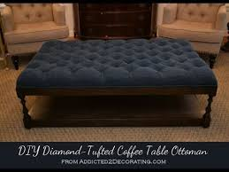 fabric ottoman coffee table tufted fabric ottoman coffee table youtube