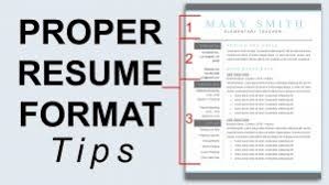 Best Layout For A Resume by Bright Ideas Proper Resume 6 Correct Layout For A Formats With
