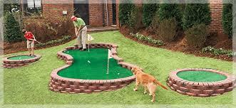 building a backyard putting green outdoor goods