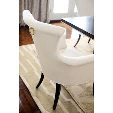 Dining Armchairs Upholstered Crawford Modern Classic Ring Pull Ivory Armchair Pair Kathy