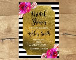 where to register for a bridal shower kate spade bridal shower invitations etsy