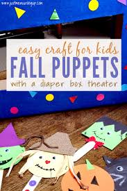 easy fall craft for toddlers and kids popsicle stick puppets