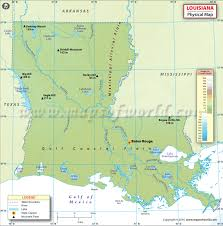 louisiana elevation map physical map of louisiana louisiana physical map