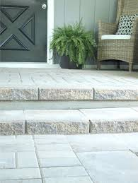 Removing Paint From Concrete Steps by Paver Patio And Steps To Cover An Old Concrete Slab