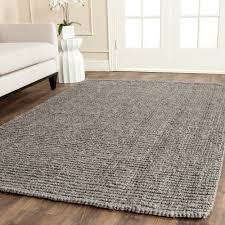 6 Square Area Rug Safavieh Casual Fiber Woven Light Grey Chunky Thick
