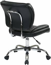 Leather Task Chair Armless Faux Leather Task Chair St52050c In Red White Or Black
