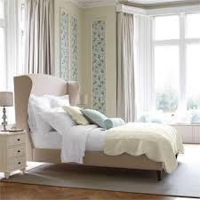white nailhead headboard bed skyline furniture tufted wingback bed nailhead headboard