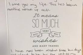heart rending thank you letter from suicidal woman to met cops who