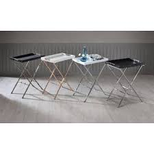 carter metal folding tray table black traditional tv metal tv tray tables for less overstock com