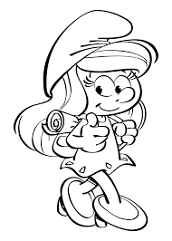 smurfette from smurfs the lost village coloring page get