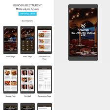 restaurant mobile app html template
