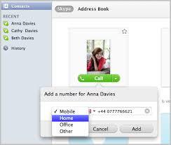 skype de bureau comment ajouter des numéros de téléphone au profil d un contact