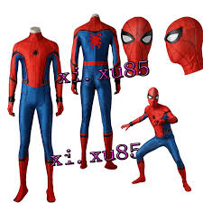 2017 spider man homecoming cosplay costume jumpsuit made from