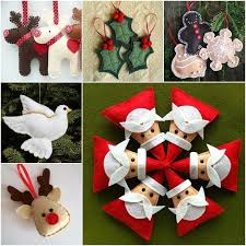 simple felt ornament patterns template idea