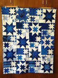 handmade quilt blue log cabin quilt crib quilt patchwork quilt