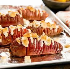marshmallow stuffed hasselback sweet potatoes kirbie s cravings