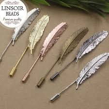 aliexpress buy new arrival 10pcs silver gold aliexpress buy linsior 10pcs lot feather stick pin gold