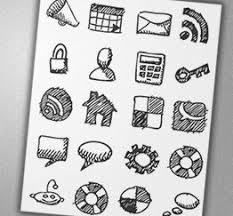 hight quality icons 11 awesome hand draw social bookmark icons