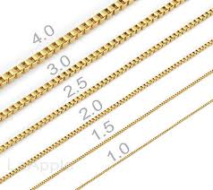 box chain gold necklace images Mens womens gold plated chain 316 stainless steel box chain jpg