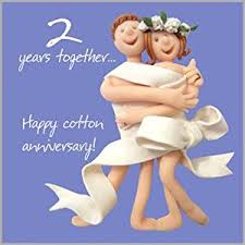 2nd wedding anniversary card co uk office products