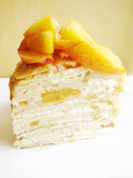 peaches and cream crêpe cake the busy spatula