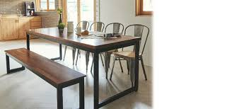 tinwood scandi industrial merbau dining table 2100 dining tables