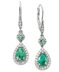emerald earrings emerald earrings shop emerald earrings macy s