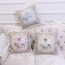 Armchair Pillow For Bed Pillowcase European Style Jacquard Pillow Case Exquisite Office