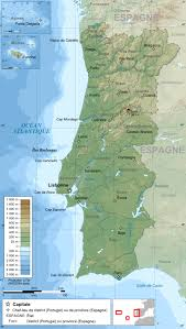 Geographic Map Of Europe by Maps Of Portugal Detailed Map Of Portugal In English Tourist
