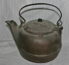 g f filley 1863 pat cast iron tea kettle pot cast iron water