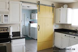 Sliding Door Kitchen Cabinets by Remodelaholic 35 Diy Barn Doors Rolling Door Hardware Ideas