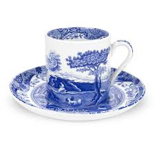 Porcelain Coffee Mugs Spodeblue Italian Coffee Cups And Saucers Set Of 4 Spode Uk