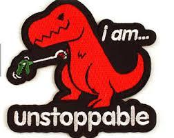 Unstoppable Dinosaur Meme - unstoppable dinosaur etsy