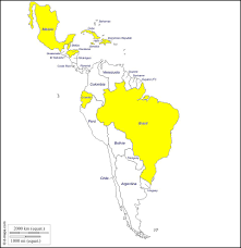 Blank Map Central America by Latin America Free Map Free Blank Map Free Outline Map Free