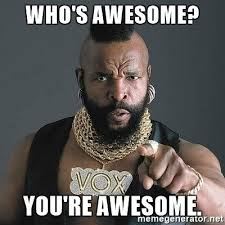 Youre Retarded Meme - pretty youre retarded meme who s awesome you re awesome mr t meme