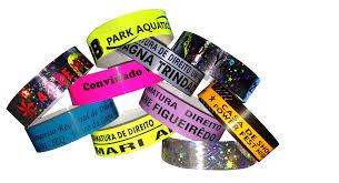 Famosos Pulseira de Identificação Personalizada para Festas e Eventos   OC @VV51