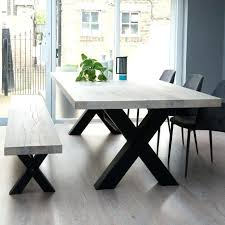 Wood Table With Metal Legs Reclaimed Wood Dining Table Metal Legs Iron Round Wooden Wrought