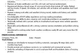Commercial Truck Driver Resume Sample by Driver Supervisor Resume Reentrycorps
