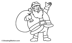 draw santa tutorial