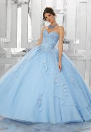 blue quinceanera dresses a line strapless quinceanera dress by mori valencia 60024