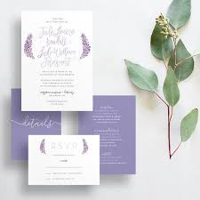 lavender wedding invitations lavender wedding invitations custom digital files