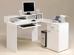 White Corner Workstation Desk White Computer Desk White Modern Small Corner Computer Desk With