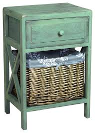 Basket Drawers For Bathroom Distressed Washed Wood Cabinet Chest With Drawer And Basket Bin