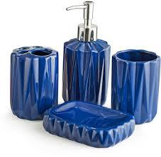 Royal Blue Bathroom Accessories Chumbak Royal Blue Bathware Set Ceramic Plastic Bathroom Set